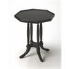 Adolphus Black Licorice Octagonal Accent Table, Black Licorice