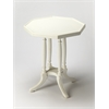 Adolphus Cottage White Octagonal Accent Table, Cottage White