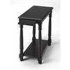 Butler Devane Black Licorice Chairside Table, Black Licorice