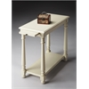 Devane Cottage White Chairside Table, Cottage White