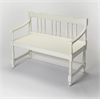 Butler Cather Cottage White Bench, Cottage White