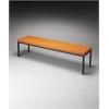 Darden Leather Bench, Loft