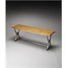 Morganton Wood & Metal Bench, Industrial Chic