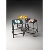Trio Industrial Chic Stool Set, Industrial Chic