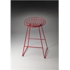 Ludwig Red Metal Bar Stool, Red
