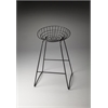 Ludwig Black Metal Bar Stool, Black