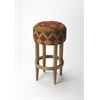 Las Cruces Kilim Pouffe Bar Stool, Mountain Lodge