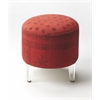 Borrego Red Pouffe Ottoman, Red