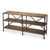 Auvergne Industrial Chic Display Console Table, Industrial Chic