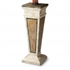 Augustus Etched Fossil Stone Pedestal, Heritage