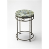 Sadye Fossil Stone Accent Table, Metalworks