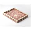 Vivienne Pink Bone Inlay Serving Tray, Pink Bone Inlay