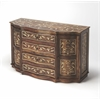 Chevrier Wood & Bone Inlay Sideboard, Wood & Bone Inlay