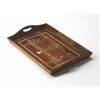 BUTLER Serving Tray, Wood & Bone Inlay