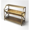 Keats Antique Gold Librarie Bookcase, Industrial Chic