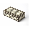 Basan Wood & Bone Inlay Storage Box, Wood & Bone Inlay
