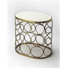 Talulah Oval Marble Accent Table, Metalworks