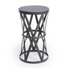 Butler Empire Round Iron Accent Table, Industrial Chic