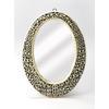 BUTLER Oval Wall Mirror, Black Bone Inlay