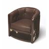 Wyatt Leather & Hair-On-Hide Tub Chair, Cosmopolitan
