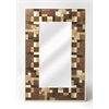 Butler Gagne Hair-On-Hide Wall Mirror, Cosmopolitan