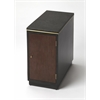 Onyx Leather Chairside Table, Modern Expressions