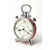 Ruby Red & Nickel Finish Desk Clock, Clock- Hors D'oeuvres