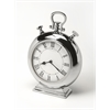 Alistair Nickel Finish Desk Clock, Clock- Hors D'oeuvres
