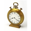 Kenilworth Antique Brass Finish Desk Clock, Clock- Hors D'oeuvres
