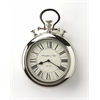 Guilford Nickel Finish Wall Clock, Clock- Hors D'oeuvres