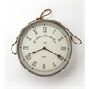 Rockport Nickel Finish Wall Clock, Clock- Hors D'oeuvres