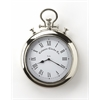 Exeter Nickel Finish Wall Clock, Clock- Hors D'oeuvres