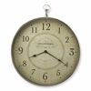 Butler Le Blanc Nickel Finish Wall Clock, Clock- Hors D'oeuvres