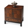 Courtland Cherry & Burl Accent Cabinet, Cherry & Burl