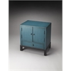 BUTLER Accent Cabinet, Distressed Blue