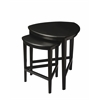 Finnegan Black Licorice Nesting Tables, Black Licorice