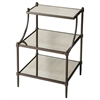 Butler Peninsula Mirrored Tiered Side Table, Metalworks