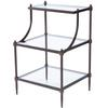 Peninsula Metal & Glass Tiered Side Table, Hallmark