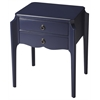 Wilshire Navy Blue Accent Table, Blue