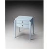 Wilshire Glossy Wedgewood Accent Table, Glossy Wedgewood