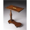 Mabry Olive Ash Burl Mobile Tray Table, Olive Ash Burl