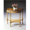 BUTLER Demilune Console Table, Pine n' Cream
