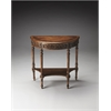BUTLER Demilune Console Table, Dark Toffee
