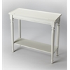 Aubrey Cottage White Console Table, Cottage White