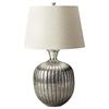 Antique Nickel Table Lamp, Hors D'oeuvres