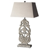 Cathedral Gray Finish Table Lamp, Hors D'oeuvres