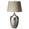 Butler  Antique Silver Finish Table Lamp, Hors D'oeuvres