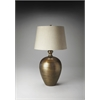 Antique Brass Finish Table Lamp, Hors D'oeuvres