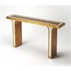 Katya Gold Leaf Console Table, Gold Leaf