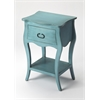 Rochelle Distressed Blue Nightstand, Rustic Blue